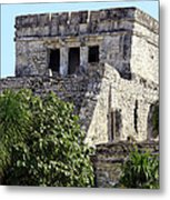 Tulum Ruins Mexico Metal Print