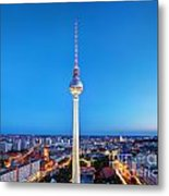 Tv Tower Or Fersehturm In Berlin Metal Print