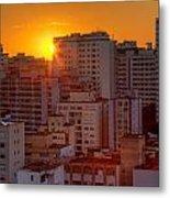 Twilight In Sao Paulo Metal Print
