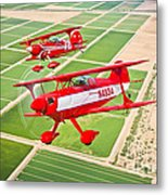 Two Pitts Special S-2a Aerobatic Metal Print