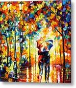 Under One Umbrella Metal Print by Leonid Afremov
