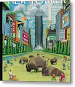 New Yorker August 27th, 2012 Metal Print