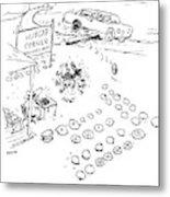New Yorker September 7th, 2009 Metal Print