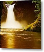 Upper Punch Bowl Falls Metal Print