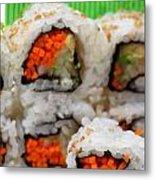 Vegetable Sushi Metal Print