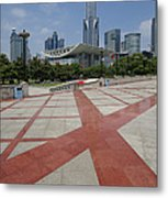 View From Peoples Park, Shanghai Metal Print