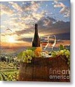 Vine Landscape In Chianti Italy Metal Print
