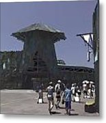 Visitors Heading Towards The Waterworld Attraction Metal Print