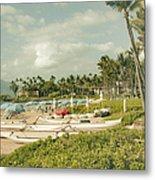 Wailea Beach Maui Hawaii Metal Print by Sharon Mau
