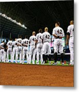 Washington Nationals V Miami Marlins Metal Print