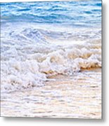 Waves Breaking On Tropical Shore Metal Print by Elena Elisseeva