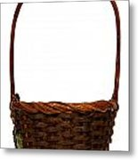 Wicker Basket Number Ten Metal Print