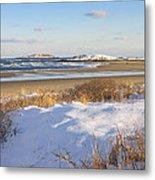 Winter At Popham Beach State Park Maine Metal Print