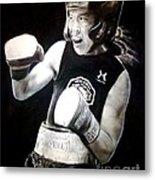 Woman's Boxing Champion Filipino American Ana Julaton Metal Print