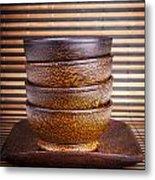 Wooden Bowls Metal Print