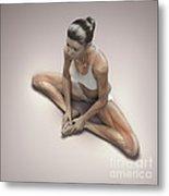Yoga Bound Angle Pose Metal Print