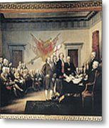 Declaration Of Independence Metal Print by Granger