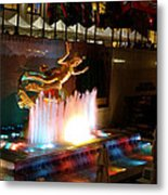 30 Rock Fountain Metal Print