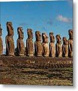 Easter Island Moai Metal Print