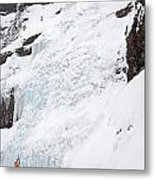 Ice Climbing Metal Print