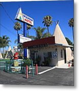 Route 66 - Wigwam Motel Metal Print