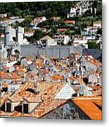 Views Of Dubrovnik Croatia Metal Print