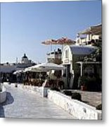Views Of Santorini Greece Metal Print