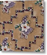 French Fabrics First Half Of The Nineteenth Century 1800 Metal Print