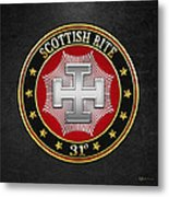 31st Degree - Inspector Inquisitor Jewel On Black Leather Metal Print