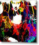 31x48 Mona Lisa Screwed - Huge Signed Art Abstract Paintings Modern Www.splashyartist.com Metal Print