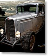 32 5 Window Coupe Rainy Day Cruise Metal Print