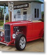 32 Ford At Filling Station Metal Print