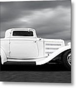 32 Ford Deuce Coupe In Black And White Metal Print