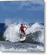 Surfing Fun Metal Print