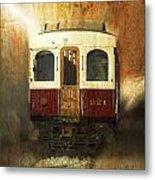 321 Antique Passenger Train Car Textured Metal Print