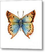 33 Opal Copper Butterfly Metal Print