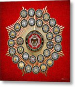 33 Scottish Rite Degrees On Red Leather Metal Print
