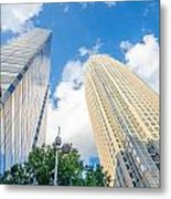 Skyline And City Streets Of Charlotte North Carolina Usa Metal Print