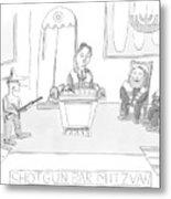 New Yorker April 23rd, 2007 Metal Print