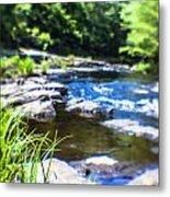 The Stream In Mountain Metal Print