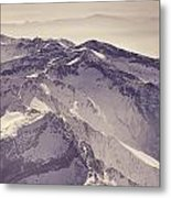 3.478 Meters Aerial Retro Metal Print