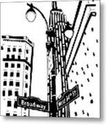 34th And Broadway Metal Print