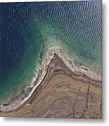 Observation Of Dead Sea Water Level Metal Print