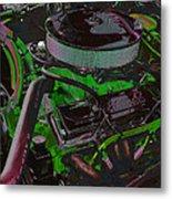350 Battle Ax In Green Metal Print