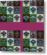 36 Bernhards From my Fairy Tales on Bordeaux Metal Print