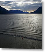 Feature - Bore Tide Surfing In Alaska Metal Print