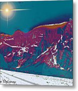 Space Landscape Metal Print