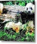 3722-panda -  Plein Air 1 Sl Metal Print