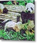 3722-panda -  Watercolor 2 Sl Metal Print