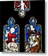 Religious Stained Glass Window Metal Print